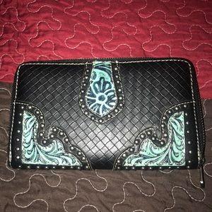 Handbags - Montana West zipper wallet. Carried short time